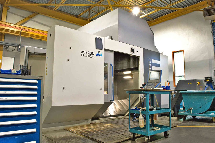 Our 5-axis CNC Mikron HPM1850u