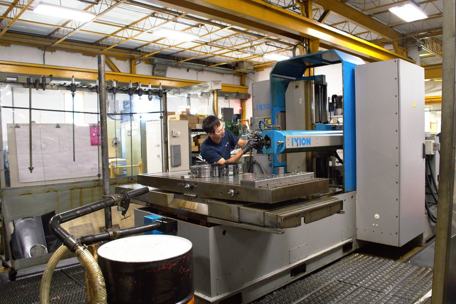 deep hole drilling machining ixion tl 1001