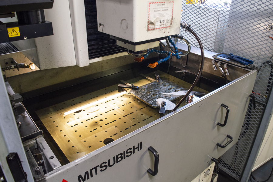 Close shot of Mitsubishi EX-30 CNC EDM sinker